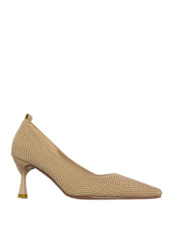 Twenty Eight Shoes beige Trendy Knitted Fabric Heels VL96952 5FECFSH92995AFGS_1