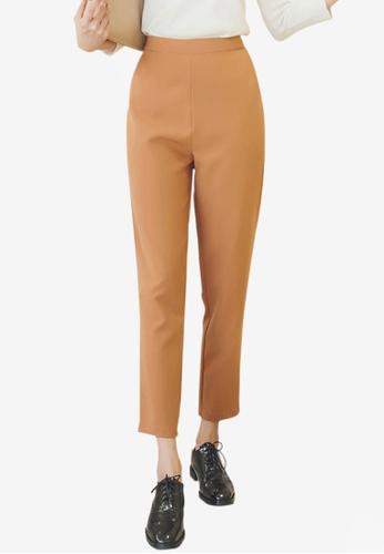 YOCO beige Tailored Pants 72283AA7269632GS_1