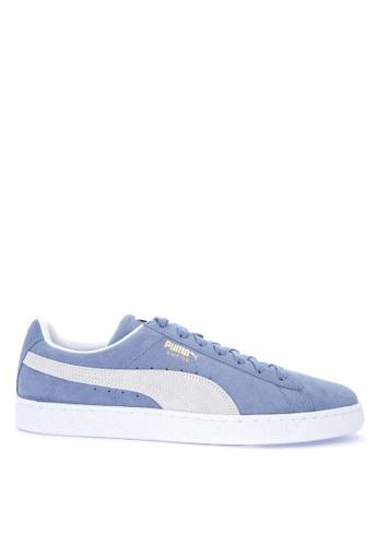 Puma blue Suede Classic Lace-up Sneakers D0E17SHD3A99A7GS_1
