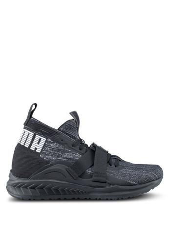 Puma black and white Ignite Evoknit 2 Shoes PU549SH0SWD0MY_1