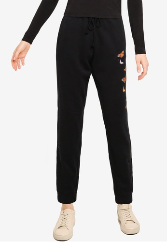 Hollister black Graphic Dad Jogger Pants 3552AAAA33CB35GS_1