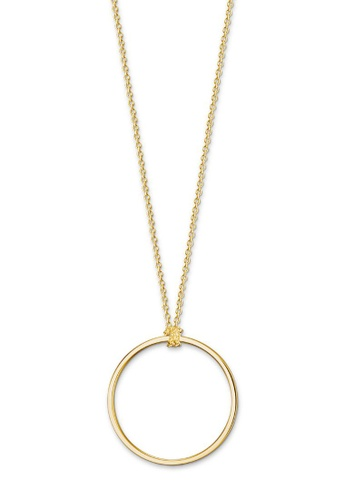 "THOMAS SABO beige Charm necklace ""Circle Gold"" 60DDFAC1A9EE08GS_1"