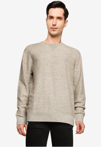 GAP 米褐色 Cotton Slub Crew Sweatshirt B89C4AADA9B863GS_1