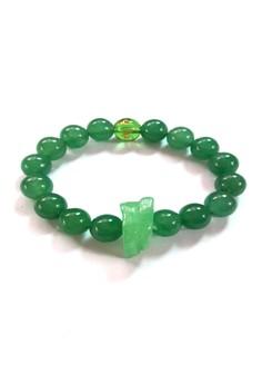 Feng Shui Jade Snake Animal Sign with Protection Mantra Bracelet
