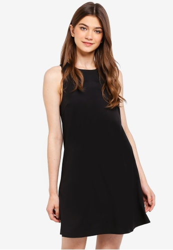 Something Borrowed black Cross Back Swing Dress D28F4AA430EA43GS_1