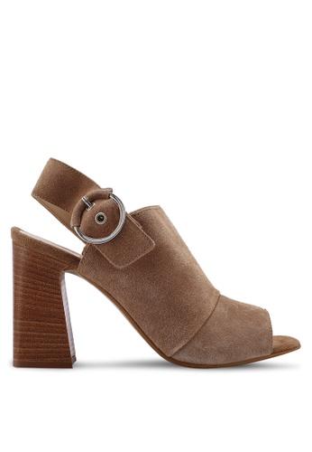 6ea1b5af4f64a Elalyan Peep Toe Slingback Block Heels