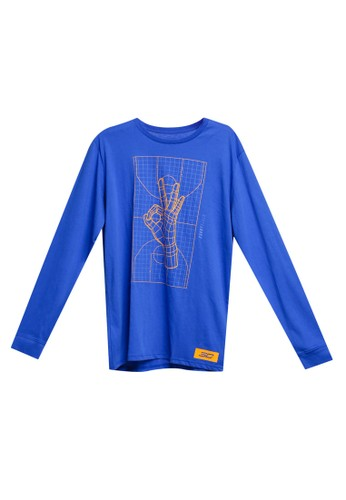 Under Armour blue SC30 Trey Okay Long Sleeve Tee 57D7DAAE303159GS_1
