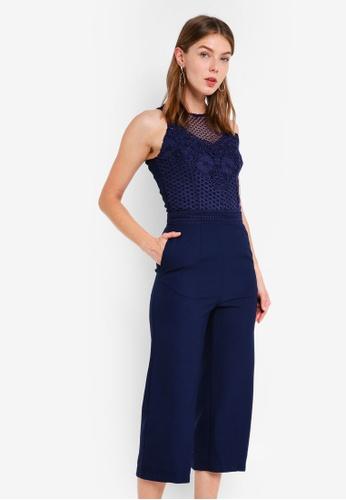 Little Mistress navy Crochet Jumpsuit 33B16AACB70109GS_1