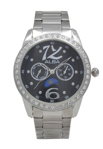 Alba silver ALBA Jam Tangan Wanita - Silver Black - Stainless Steel - AS5019 DD3C7AC9B62DC9GS_1