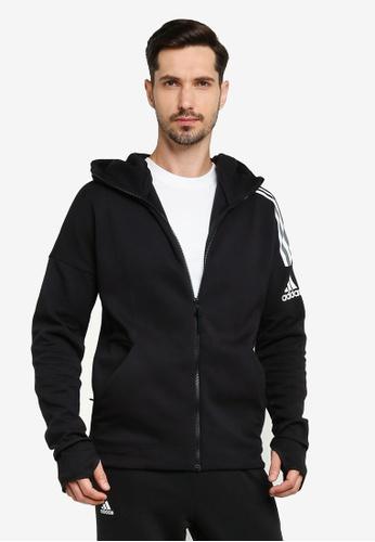 ADIDAS black zne hd 3-stripes hoodie 0E0D0AAEF4974FGS_1