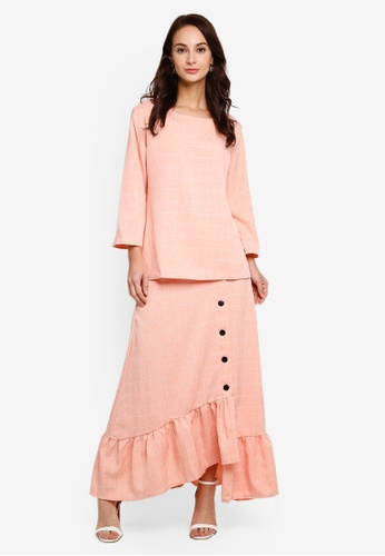 Check Casual Suit from BYN in Orange