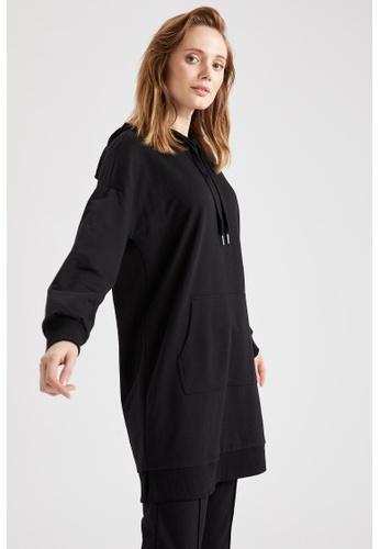 DeFacto black Long Sleeve Sweatshirt Tunic 87FDDAA249A4E0GS_1