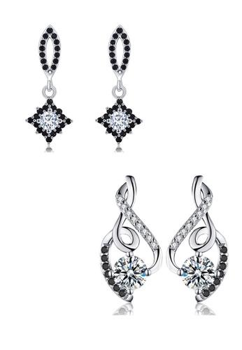A-Excellence white Premium Elegant White Silver Earring Set 3642BAC0E284EFGS_1