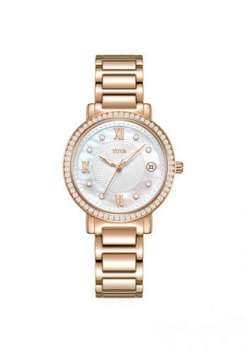 Solvil et Titus gold Fair Lady Women's 3 Hands Quartz in mother of pearl dial and Rose Gold Stainless Steel Bracelet 3DDD3AC9644AB8GS_1