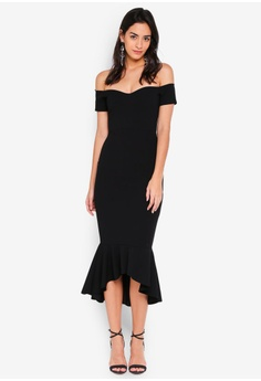 b345c70e422 8% OFF MISSGUIDED Bardot Fishtail Hem Midi Dress RM 119.00 NOW RM 109.90  Sizes 6 8 10 12