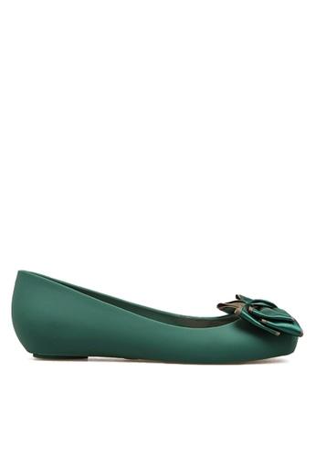 Twenty Eight Shoes 綠色 雙色蝴蝶果凍膠雨鞋 VR1838 D51ADSH71C07A0GS_1