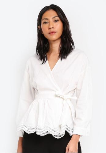 Megane white Essential Maiara Wrap Top 24EEAAAE4476DEGS_1