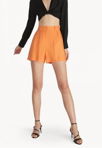 High Waist Shorts - Orange - Pomelo