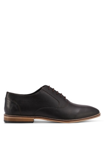 ZALORA brown Calf Leather Lace Up Dress Shoes A823BSH9EE6CDFGS_1