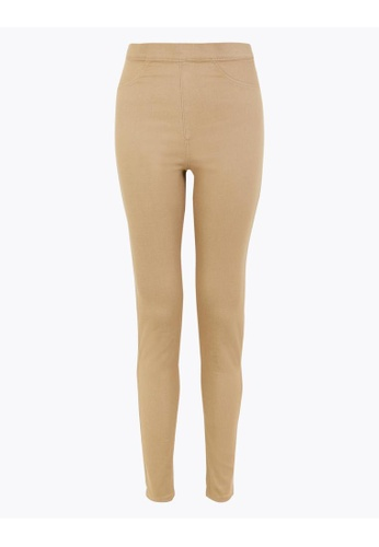 MARKS & SPENCER beige M&S High Waisted Jeggings 0ED50AA8CA7CF1GS_1