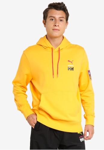 PUMA yellow PUMA x HELLY HANSEN Men's Hoodie FF697AAAFB9B44GS_1