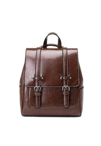 Twenty Eight Shoes brown VANSA Vintage Burnished Cow Leather Backpacks VBW-Bp3322 62CCDACE663D43GS_1