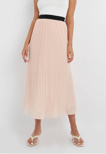 FORCAST pink FORCAST Cora Pleated Maxi Skirt 3E0C3AA5798EEFGS_1