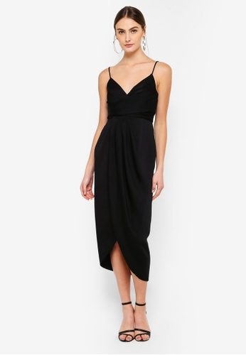FORCAST black Gracelynn Crossover Dress AE14BAAE34F0B9GS_1