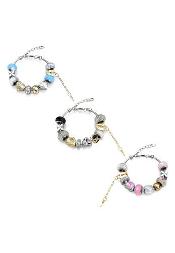 Her Jewellery multi Mylady Charm Bracelet Combo - Licensed Genuine Crystals from Swarovski® HE581AC0RVFDMY_1