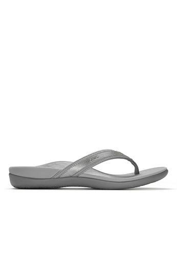 Vionic grey Islander Toe Post Sandal B798DSH713B4DCGS_1