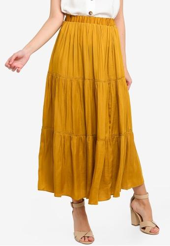 FORCAST yellow Jill Gathered Skirt 036A9AA705EB34GS_1