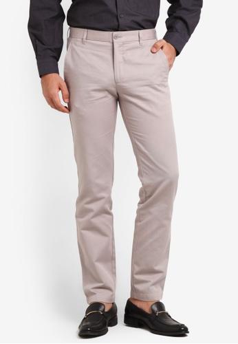 Kent & Crew 灰色 Cotton Pants KE579AA0RJRXMY_1