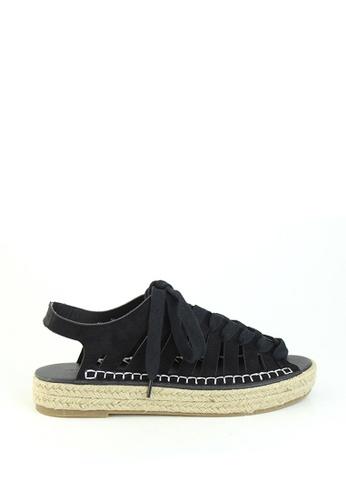 London Rag black Black Multi Lace up Sandal 73B5BSH9396FC2GS_1
