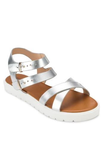 Double zalora時尚購物網評價Buckle Sandals, 女鞋, 鞋