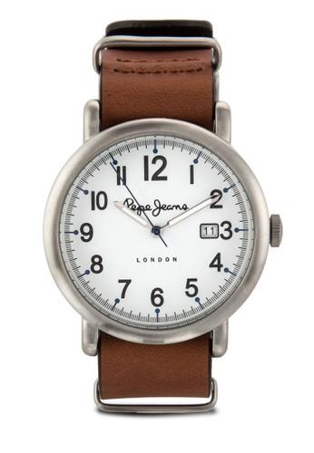 R235110501esprit outlet 台中2 Charlie 數字顯示皮革男錶, 錶類, 飾品配件