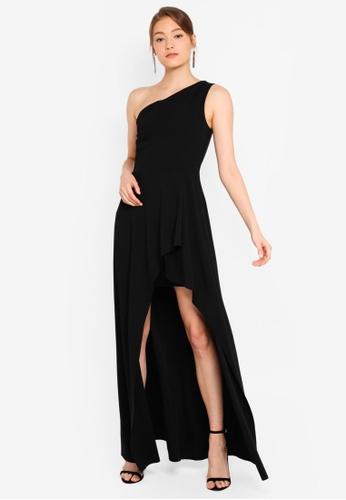 3e7384676 Buy Goddiva One Shoulder High Leg Maxi Dress Online | ZALORA Malaysia