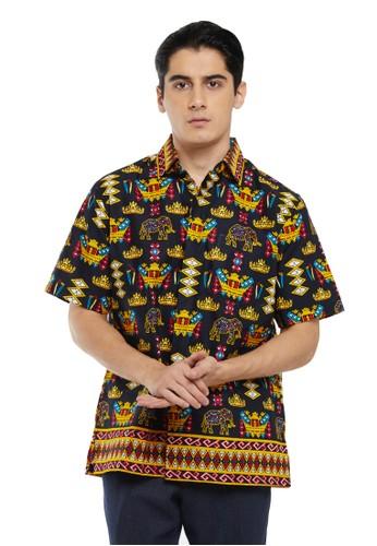 Pradawita black Pradawita Batik Kemeja Basic Gajah 1A-Abu-Hitam C02D0AA6547B72GS_1