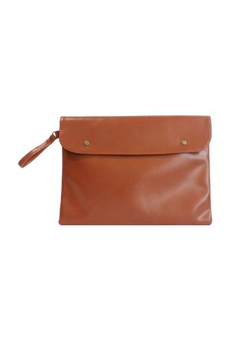 "Knocks brown 14/15"" Carlton Laptop Case (Chestnut) KN307AC94XBTSG_1"