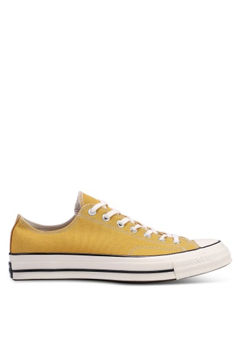 Converse yellow Chuck Taylor All Star 70 Vintage Canvas Ox Sneakers 8B709SHCB02178GS_1