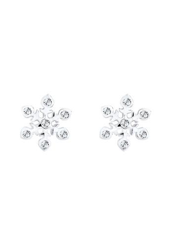 Elli Germany silver Earring Swarovski® Crystals Snowflake 925 Sterling Silver EL474AC0SEUVMY_1