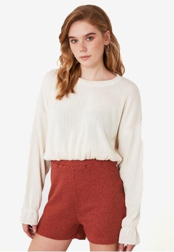Trendyol orange Ribbed Knit Shorts 6B053AA04F24AFGS_1