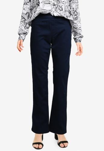 LC Waikiki navy High Waist Slim Trousers 6797AAA8FDDD43GS_1