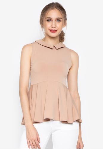 8c3173dd29a97 Shop Ashley Collection Sleeveless Collar Peplum Top Online on ZALORA ...