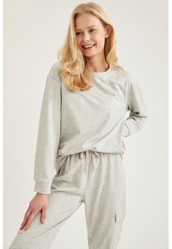 DeFacto grey Woman Homewear Knitted Top BE2C9AAF829530GS_1
