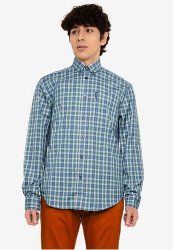 Ben Sherman blue Tartan Check Shirt E5CDFAAB0332E5GS_1
