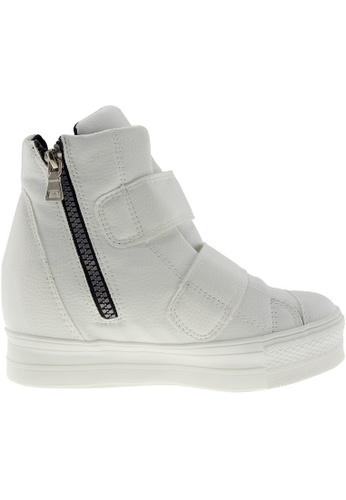 Maxstar white Maxstar Women's C2 Dual Velcro Studed Hidden Heel PU High Top Sneakers US Women Size MA164SH72PZFSG_1