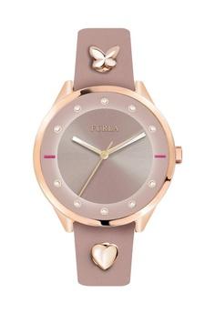3828e3bca Furla pink Pin Quartz Watch R4251102541 Pink Leather Strap  19095AC2E3DD5AGS 1