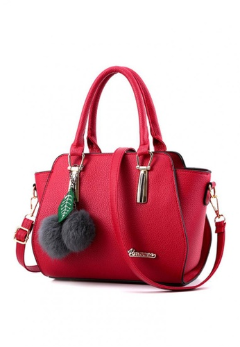 TCWK red TCWK Korea Style Red Ladies Handbag TC258AC0RR5QMY_1