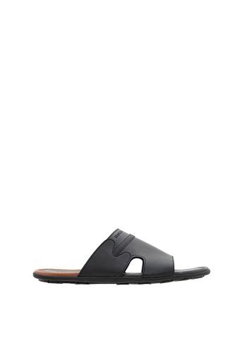 SEMBONIA black Men Synthetic Leather Sandal 8F5F0SH61FA3F7GS_1