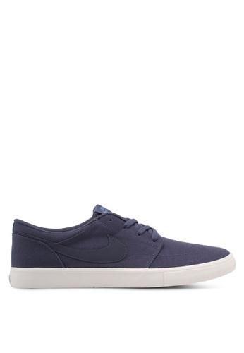 Nike blue Men's Nike SB Solarsoft Portmore II Skateboarding Shoes NI126SH0STQZMY_1